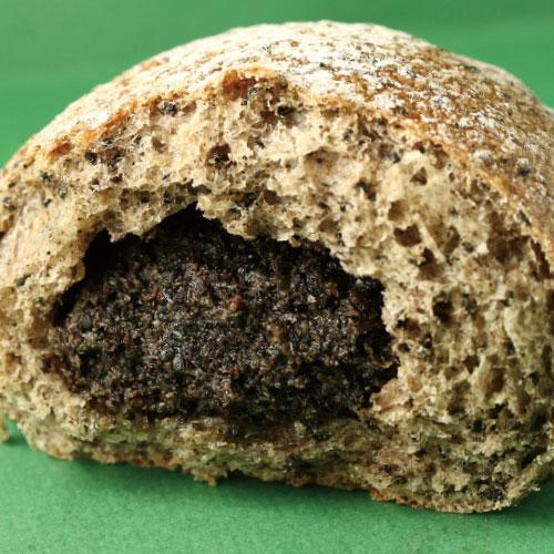 裕毛屋【爆漿芝麻麵包】(蛋奶素) 日式麵包, 芝麻甜麵包, 黑芝麻麵包