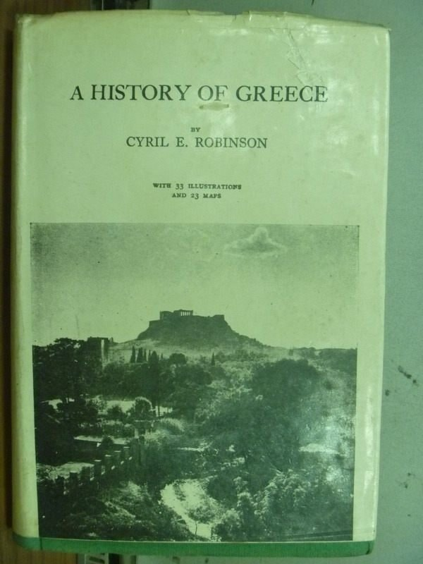 【書寶二手書T3/歷史_MOF】A History of Greece_民57