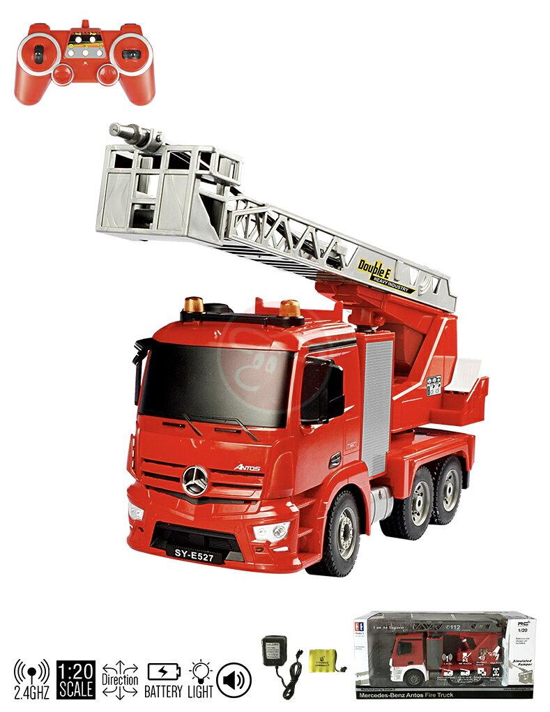【型號E527-003】2.4G遙控1:20賓士遙控噴水消防車