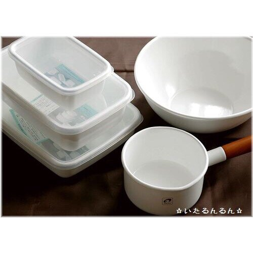 野田琺瑯 /  長方深型琺瑯收納盒透明EVA樹脂上蓋 3