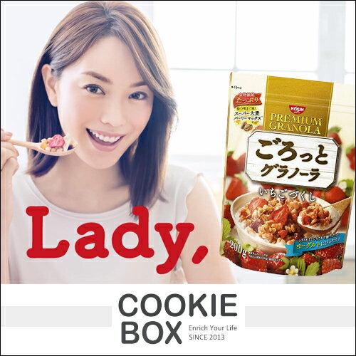 日本 日清 NISSIN 綜合 草莓 穀片 200g 麥片 穀物 纖維 水果 果實 早餐 點心 家庭號 *餅乾盒子*