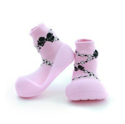 【本月特價$599】韓國【Attipas】快樂腳襪型學步鞋-粉紅貴婦 - 限時優惠好康折扣