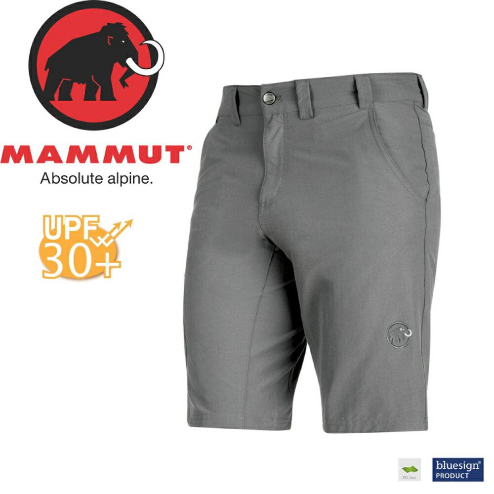 【MAMMUT Hiking Shorts 男《鈦金灰》短褲】1020-11220-0051/長毛象/UPF30+/彈性透氣/防潑水/登山