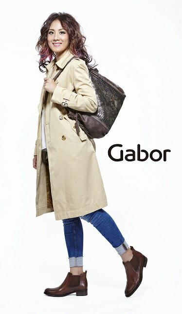 Gabor 英倫復古秋冬短靴  咖啡  粗低跟│寬楦│皮革│側U 7