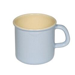 【奧地利RIESS】琺瑯馬克杯9cm / 0.5L咖啡杯/琺瑯杯(淺藍色)