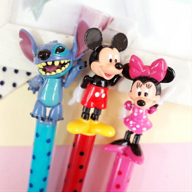 PGS7 迪士尼系列商品 - 正韓 迪士尼 多關節 可動 公仔筆 造型筆 原子筆 米奇 米妮 史迪奇【SHZ7230】