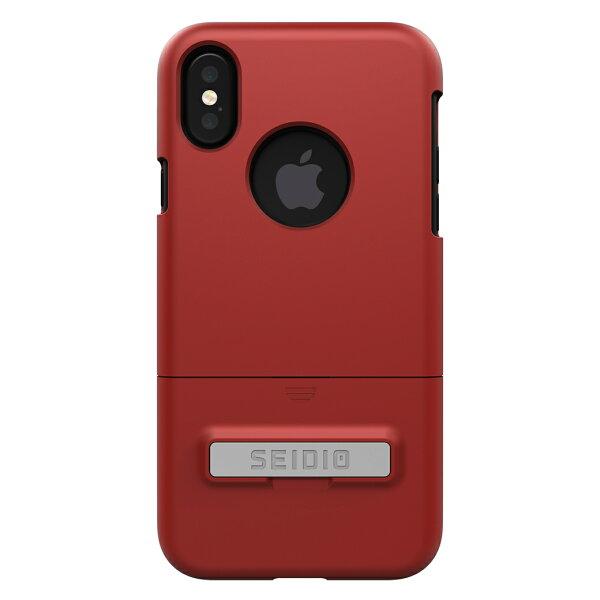 貝殼嚴選:【貝殼】SEIDIODILEX™iPhoneX都會時尚雙色保護殼手機殼防摔殼-紅色