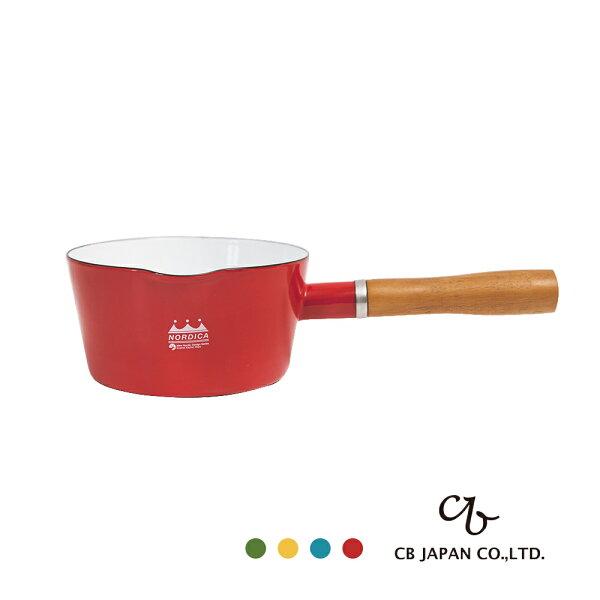 日本露營鍋琺瑯野餐CBJAPAN北歐系列琺瑯原木單柄牛奶鍋完美主義【CB002】