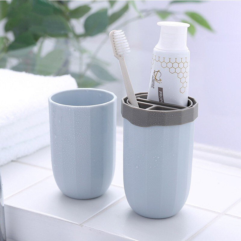 旅行牙刷盒便攜式洗漱口杯刷牙杯子套裝情侶牙缸創意簡約牙具收納1愛尚優品
