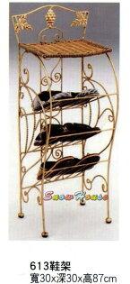 ╭☆雪之屋居家生活館☆╯576-11613鋼籐鞋架鞋櫃拖鞋架