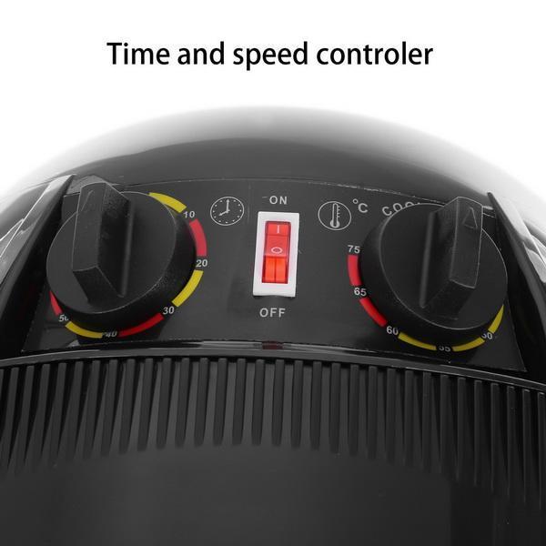 Professional Salon Floor Bonnet Adjustable Stand Up Rolling Hair Dryer 1000W Heat Settings 5