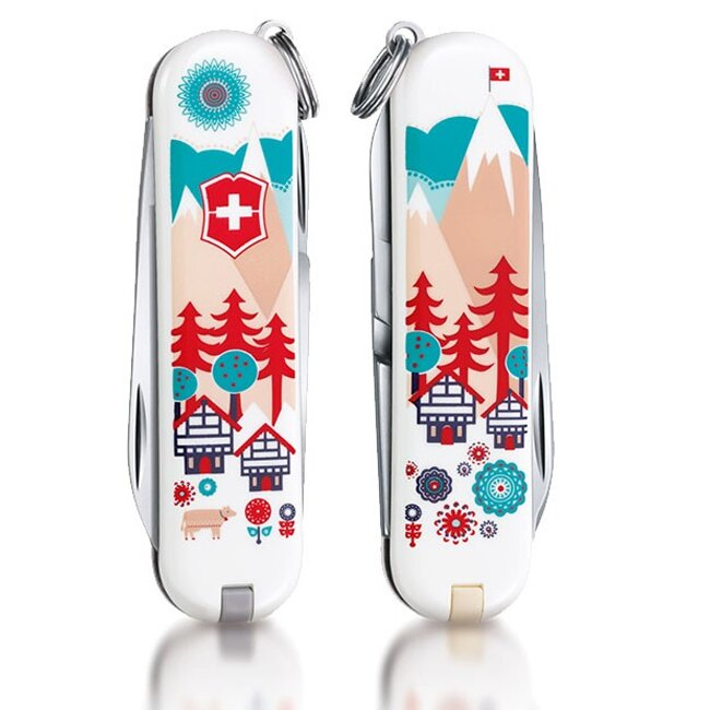 【鄉野情戶外專業】 Victorinox |瑞士|  「VICTOR INOX CLASSIC SERIES 2015」限量系列七用瑞士刀 /瑞士村莊/0.6223.L1510