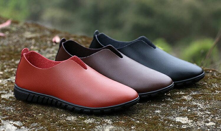<br/><br/> 英倫男鞋一腳蹬懶人軟皮鞋(現貨+預購)<br/><br/>