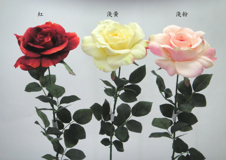 ★超低價★29吋 歌林玫瑰-淺黃 / 人造花 空間 景觀 佈置 造景