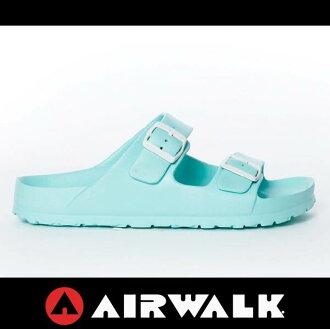 萬特戶外運動-AIRWALK A535220181美國運動流行 台灣製造 雙扣環拖鞋 EVA 運動拖鞋 勃肯鞋款BIRKENSTOCK 淺綠色
