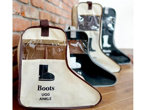 BO雜貨【SV6140】韓版 旅行鞋子靴子收納袋 時尚旅行靴子手拎收納袋 防塵手拎靴罩 (小)