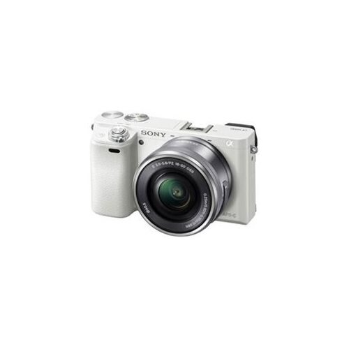 """Sony alpha a6000 24.3 Megapixel Mirrorless Camera with Lens - 16 mm - 50 mm - Silver - 3"""" LCD - 16:9 - 3.1x Optical Zoom - 4x - Optical (IS) - 6000 x 4000 Image - 1920 x 1080 Video - HDMI - HD Movie Mode - Wireless LAN 1"""