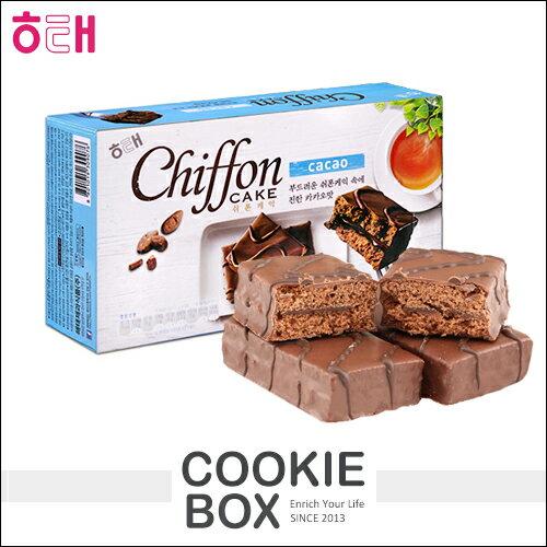 韓國 HAITAI 海太 戚風 巧克力 蛋糕 200g 巧克力 夾心派 熱銷 下午茶 點心 辦公室 團購 *餅乾盒子*