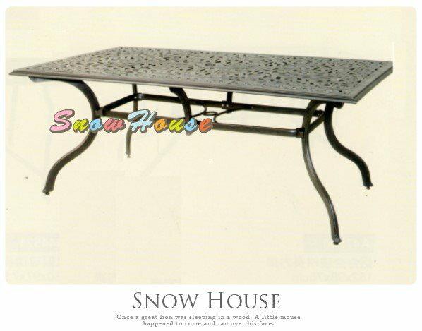 ╭☆雪之屋小舖☆╯A44Q23 P35典藏鋁合金長方桌/造型餐桌/休閒桌/咖啡桌/置物桌/戶外桌/長方桌
