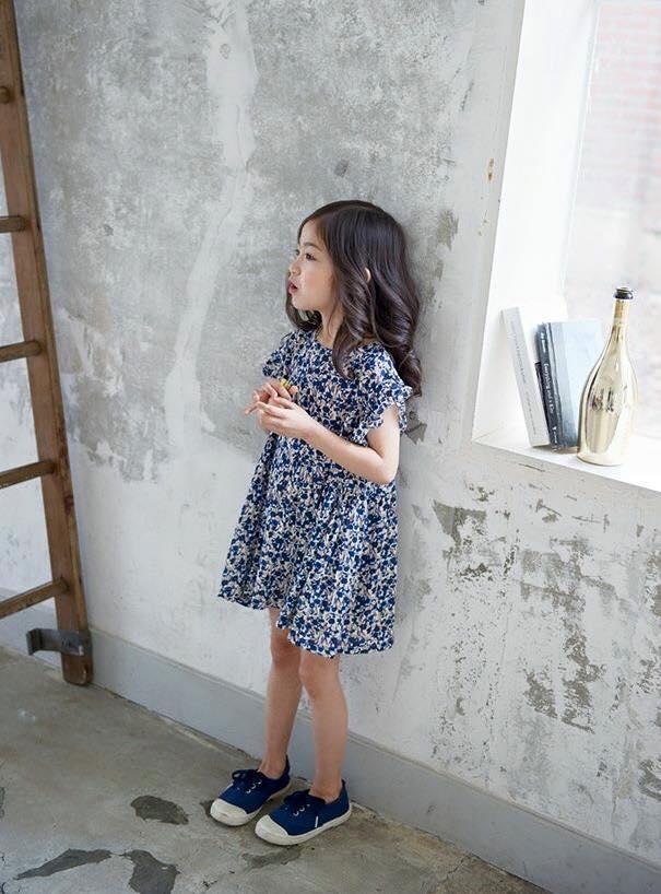 【Jewel House】小童小花洋裝(藍/紅)