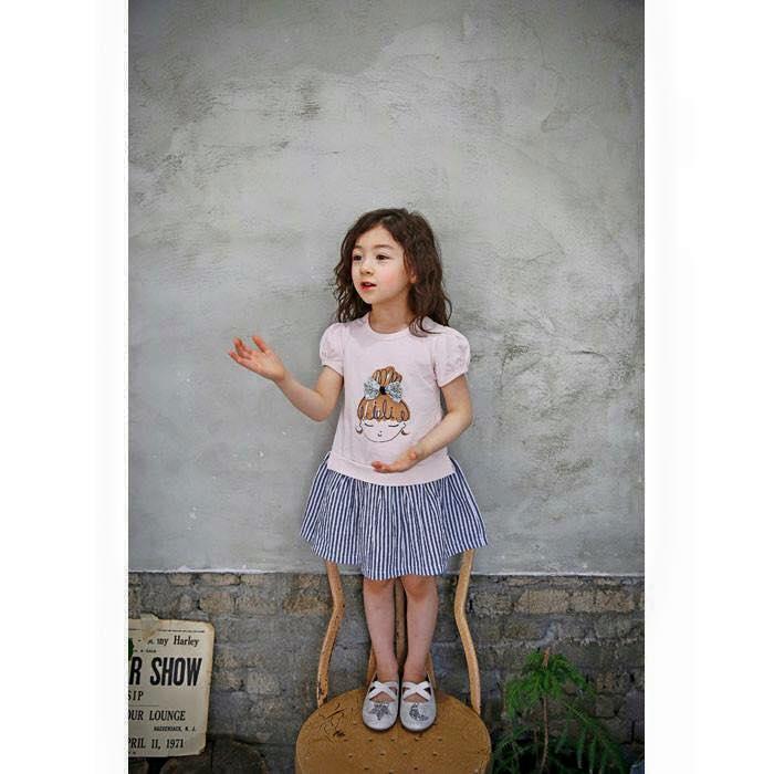 【Jewel House】小童妹妹頭粉色洋裝(白色需預購)