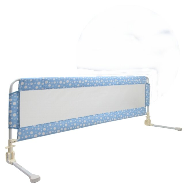 小崴Life親子館【BabyBabe】床邊護欄 63*160cm (藍 / 黃) 加寬加高 床欄/圍欄/床圍