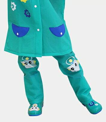 Kocotree◆ 時尚可愛防水小花猴子機器人卡通腳套過膝雨鞋套兒童腿套-綠色X機器人