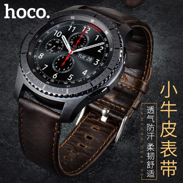 【愛瘋潮】99免運HOCOSamsungGearS3真皮瘋馬紋錶帶