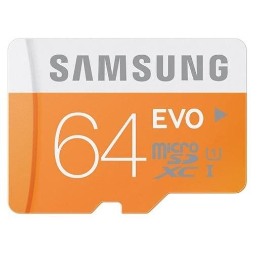 Samsung EVO 64GB microSDXC Class 10 48Mb/s 64G microSD micro SD SDXC UHS-I U1 C10 MB-MP64D fit GALAXY S5 with OEM USB 3.0 Card Reader 1