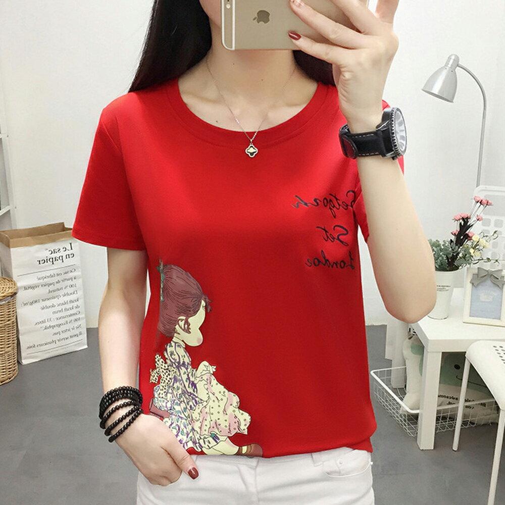 圓領寬鬆短袖T恤(5色M~5XL)【OREAD】 0