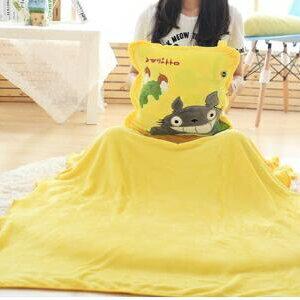 美麗大街【HB20160502】 三合一創意抱枕 手摀 抱枕毯龍貓新款上市