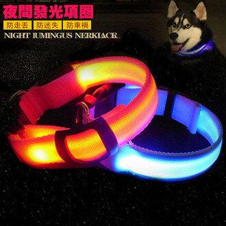潘朵拉綠色生活概念館:【寵物貴族】日系光纖高科技發光寵物項圈寵物夜間外出安全守護