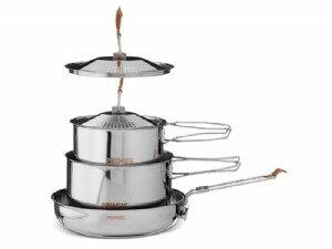 ~露營趣~中和安坑 瑞典 PRIMUS 738002 C Fire不鏽鋼鍋具組 含煎盤 炊