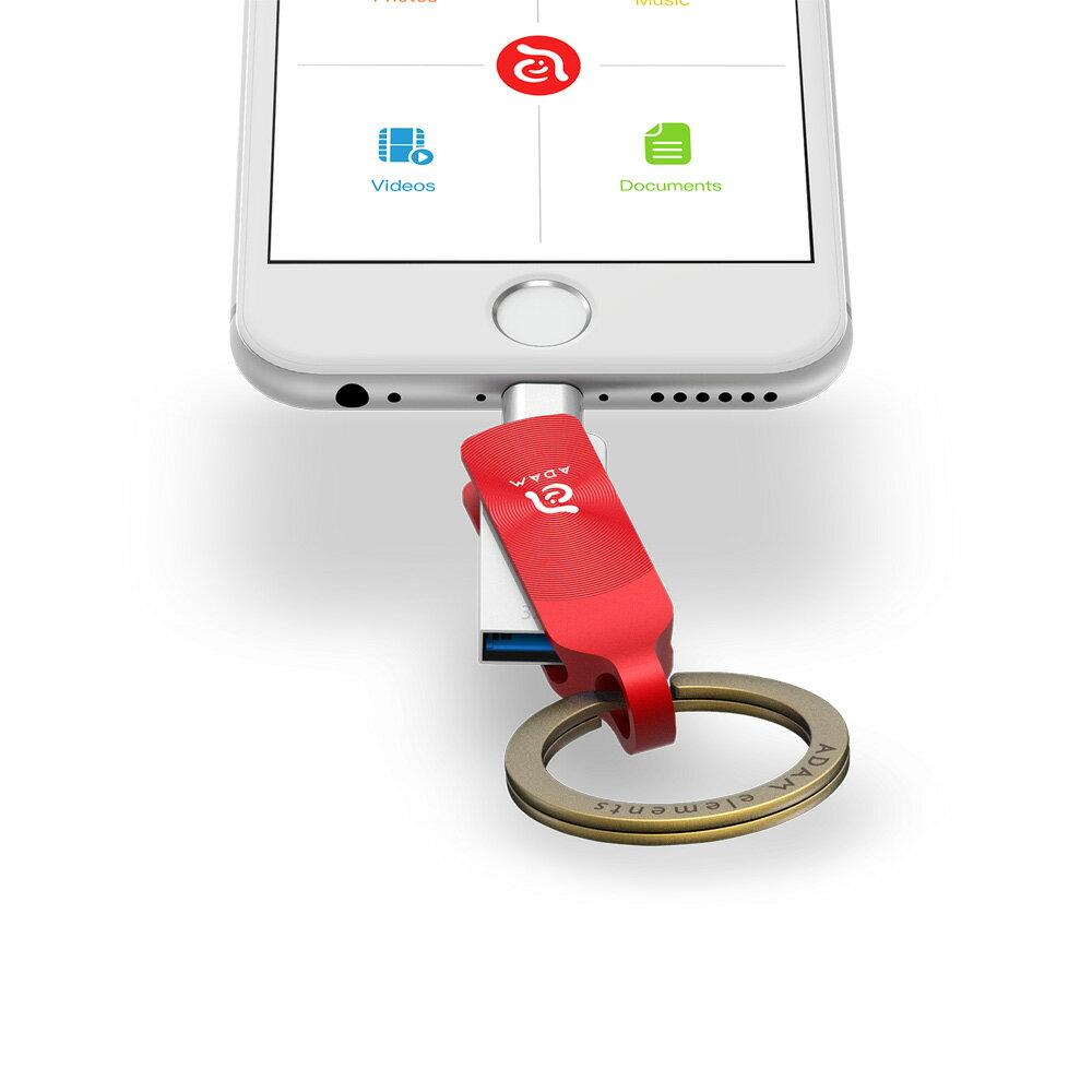 iKlips DUO + Apple 專用雙向USB 3.1 極速多媒體行動碟 32GB【亞果元素】 蘋果/APPLE/手機/3C/iPhone/儲存/隨身碟/輕便 8