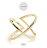 日本CREAM DOT  /  リング 指輪 レディース オープンリング 10号 ファッションリング クロスデザイン 大人 上品 エレガント 華奢 シンプル フェミニン ゴールド シルバー  /  qc0421  /  日本必買 日本樂天直送(990) 2