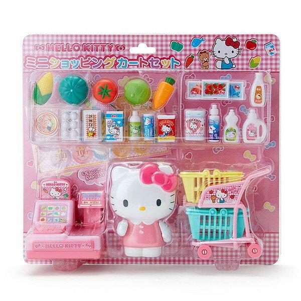 X射線 精緻禮品:X射線【C365427】HelloKitty玩具迷你購物車,扮家家酒廚具家家酒學齡兒童玩具玩具婦幼