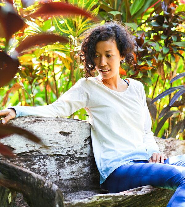 【Bali】經典草木染長袖T恤 2