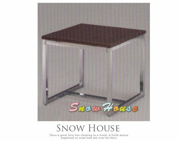 ╭☆雪之屋居家生活館☆╯A382-06 電鍍腳杜邦小茶几/餐桌/茶桌/咖啡桌/置物桌**鐵刀木色