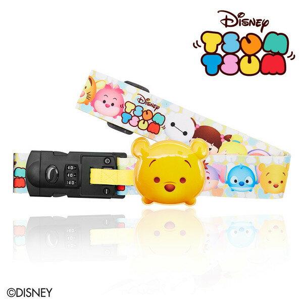 【加賀皮件】DESENO Disney 迪士尼 TSUMTSUM 可愛造型 附行李秤束帶 行李箱綁帶 維尼 B1135-0008