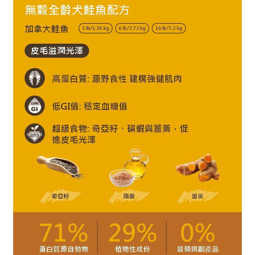 耐吉斯SOLUTION 源野高蛋白 無穀全齡犬鮭魚配方 1.36kg