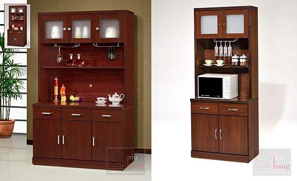 【尚品家具】GF-K01+K02 木芯板胡桃3尺餐櫃~另有4尺餐櫃/收納櫃/碗盤櫥櫃