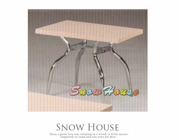 ╭☆雪之屋居家生活館☆╯A385-10 電鍍腳歐風小茶几/餐桌/茶桌/咖啡桌/置物桌**白橡木色