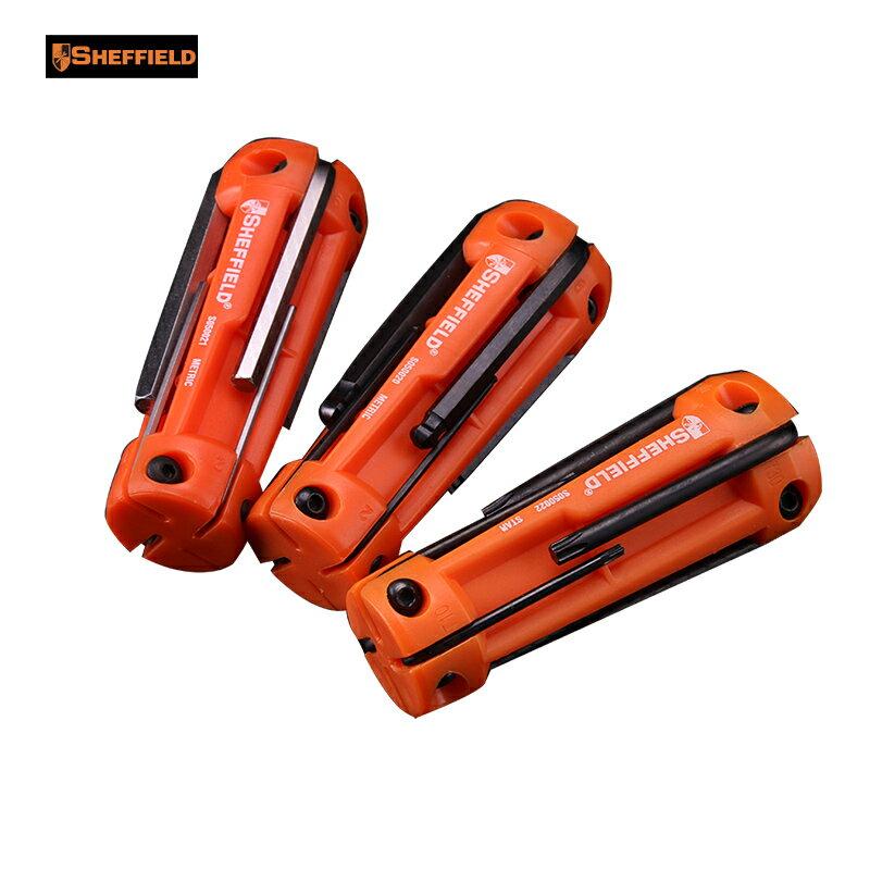 內六角扳手 五金維修工具8件套折疊式公制球頭平頭內六角扳手花型 HH5057
