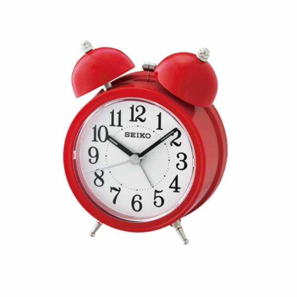 Seiko 精工鐘 (QHK035R) 貪睡功能響鈴式圓形鬧鐘(紅)/11.1*8.4*5.2 cm