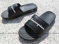 Shoestw【733250211】CHAMPION 拖鞋 運動拖鞋 小LOGO 黑色 男女尺寸 0