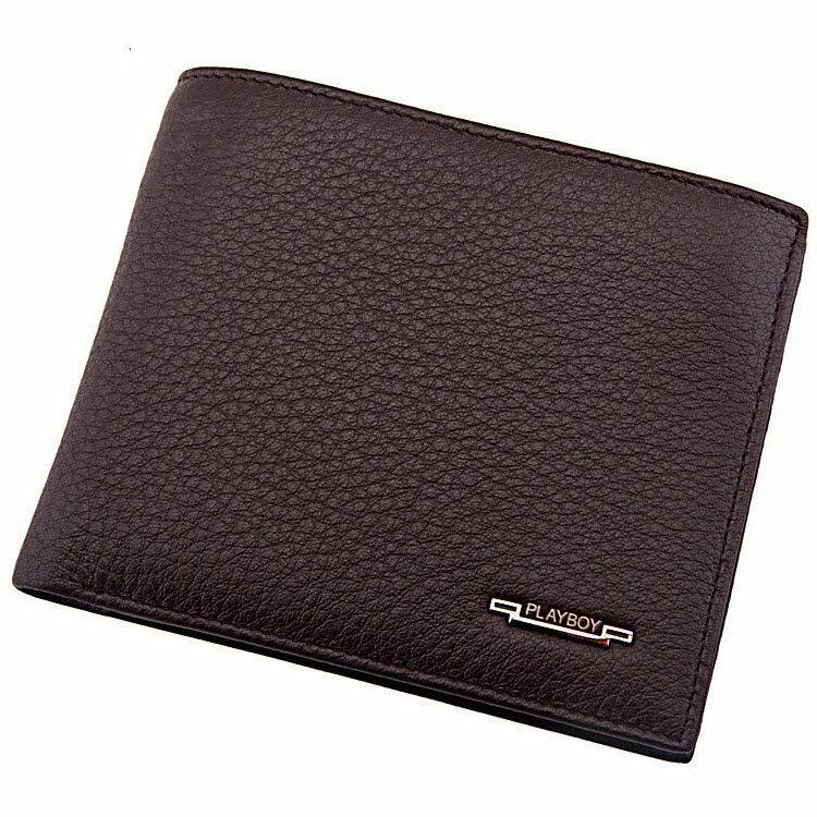 【橘子包舖】PLAYBOY 男士荔枝紋真皮短夾錢包 [A11-016] 大鈔拉鏈層