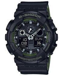 CASIO 卡西歐 G SHOCK 基礎雙顯計時錶 GA-100L-1ADR 55mm