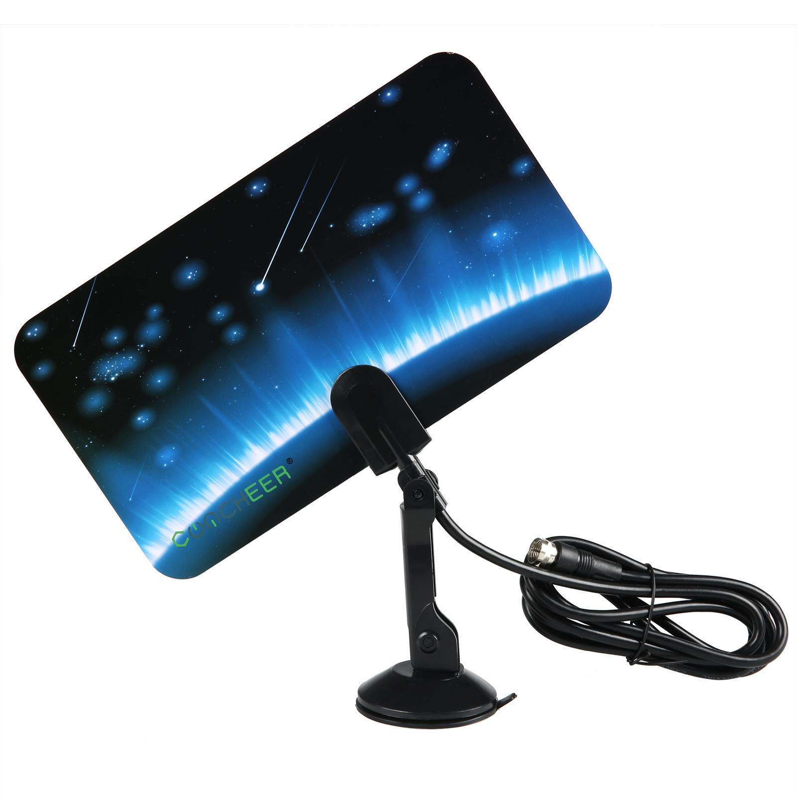 Digital TV Antenna Signal HDTV DTV Box Ready HD VHF UHF FM Stereo Flat Design 1