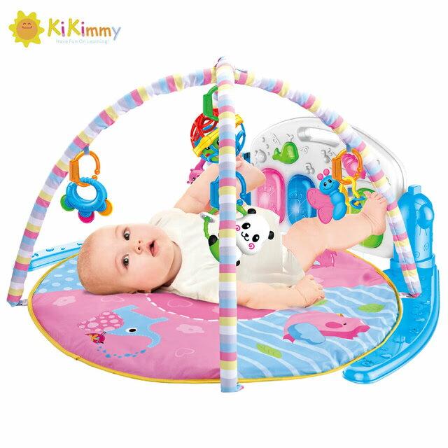 kikimmy 加大版彩紅搖鈴嬰兒鋼琴健身架K706【德芳保健藥妝】 0