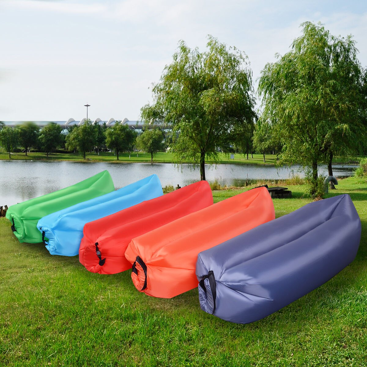 costway rakuten costway outdoor lazy inflatable couch air